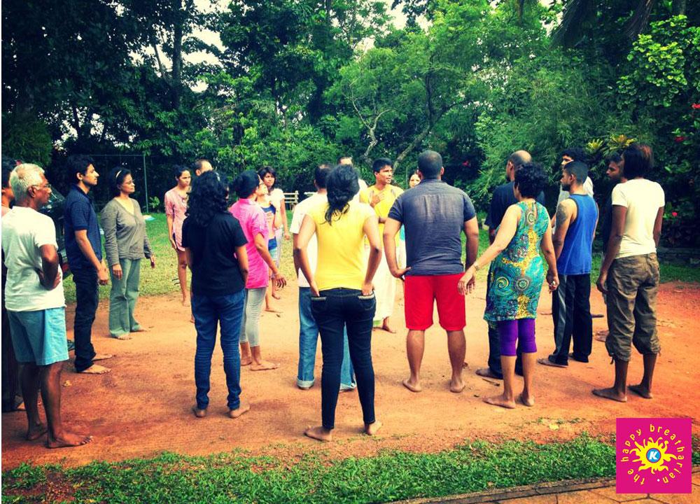 K teaching. May 2013 program in Sri Lanka